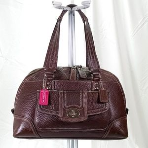 Coach Hamptons Domed Satchel Shoulder Bag